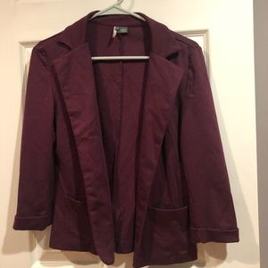 Sparkle & Fade CASUAL Blazer - Maroon - Medium